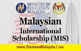 Biasiswa Kementerian Pendidikan Malaysia – Malaysian International Scholarship (MIS)