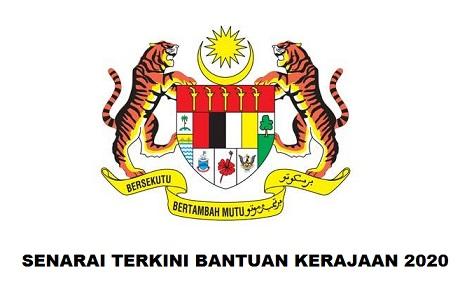 Senarai Terkini Bantuan Kerajaan Malaysia