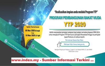 Biasiswa MARA Scholarship – Program Pembangunan Bakat Muda (YTP) 2020