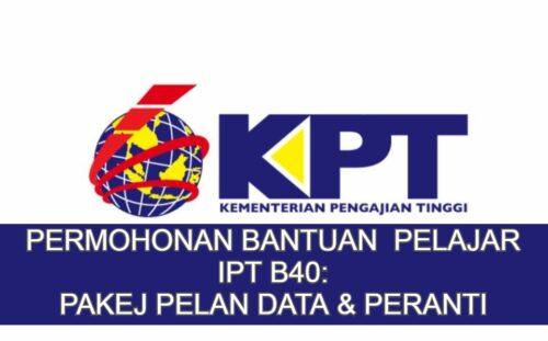 Cara Mohon Bantuan Pakej Pelan Data & Peranti Pelajar IPT B40