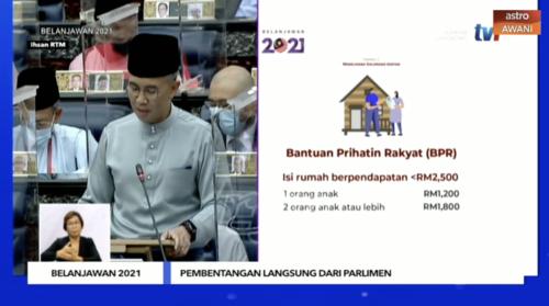 Bantuan Prihatin Rakyat (BPR) ganti BSH – Belanjawan 2021