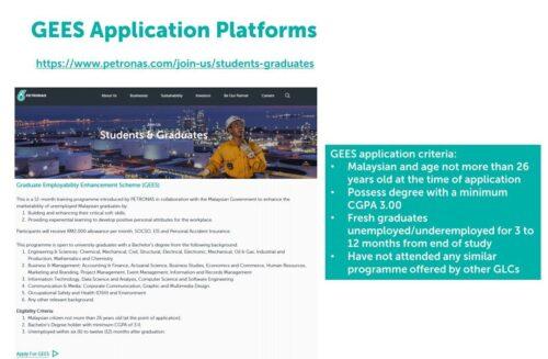 Program PETRONAS GEES Untuk Graduan