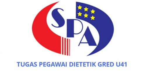 Senarai Tugas Pegawai Dietetik Gred U41